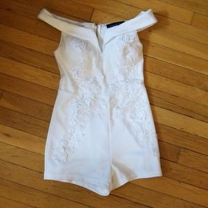 White lacy romper